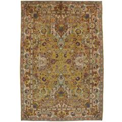 Antique European Rug with Oushak Design and Traditional Modern Style