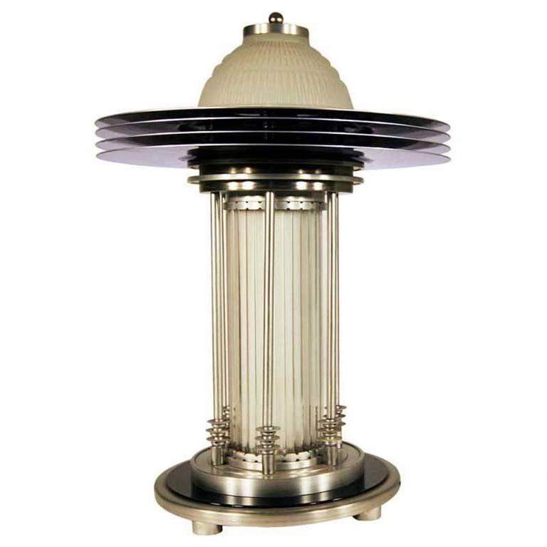 Art deco style machine age table lamp at 1stdibs for Art deco style lamp