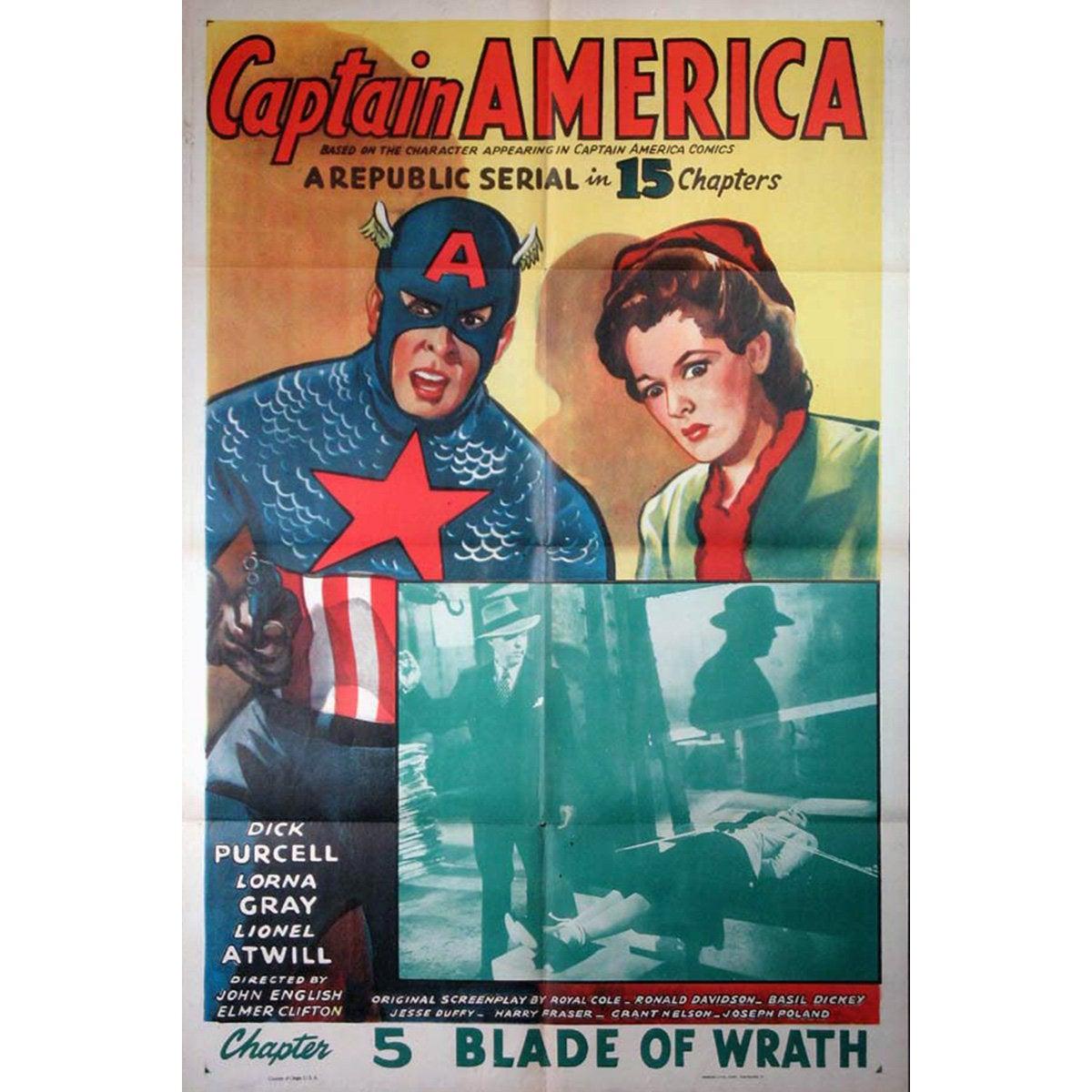 """""""Captain America"""" Film Poster, 1944"""