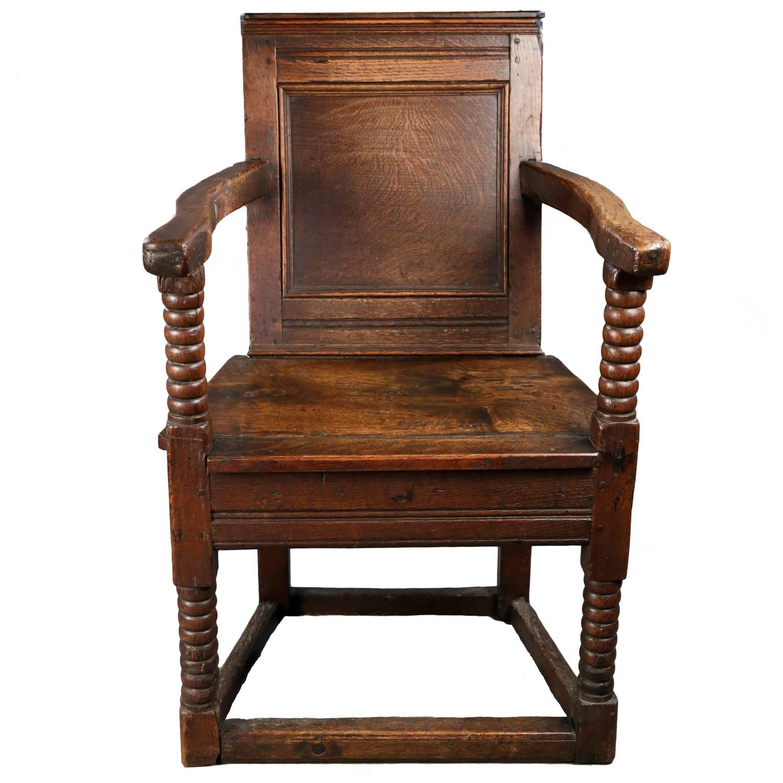 Jacobean Oak Armchair At 1stdibs