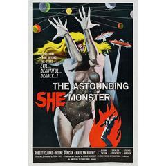 """""""The Astounding She-Monster"""" Film Poster, 1957"""