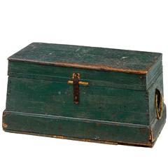 19th Century Rustic Swedish Pine Box