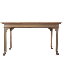 French 19th Century Painted Table with Marble Top