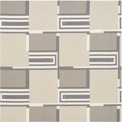 Mid-20th Century Frank Lloyd Wright Schumacher Natural Linen 4-Yard Panel