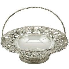 Antique George IV Sterling Silver Fruit Basket