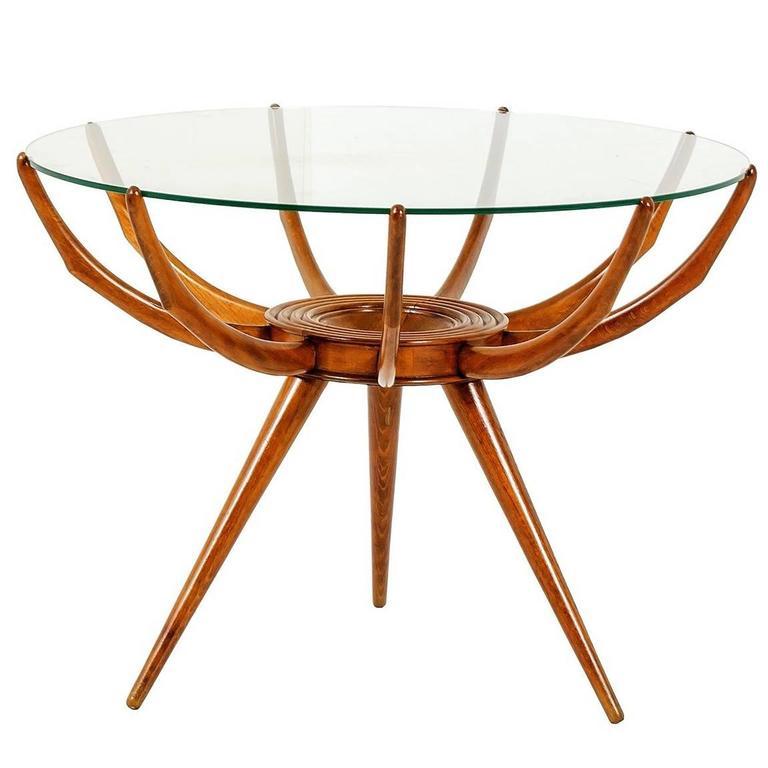 """""""Ragno"""" Side Table by Carlo de Carli, Italy, 1950s"""