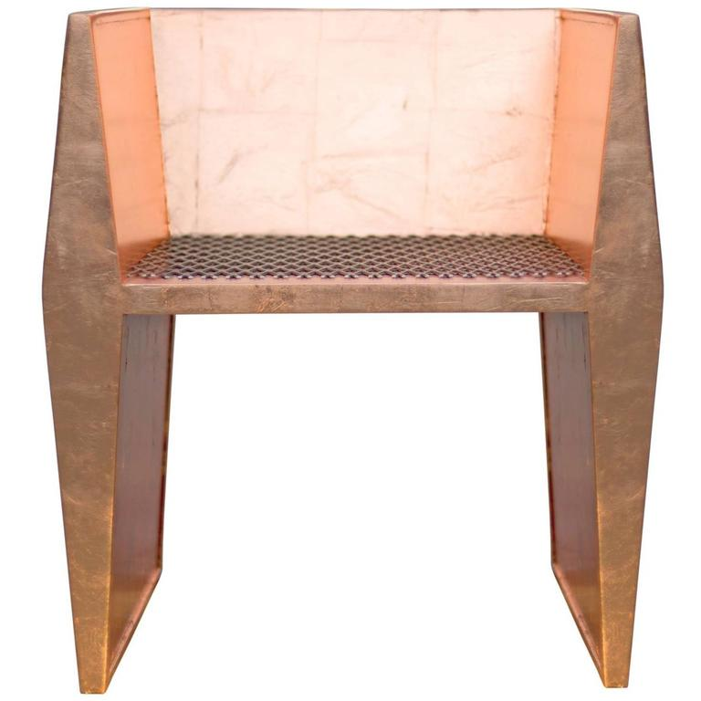 Sentient Sapience Chair Copper Leaf Finish