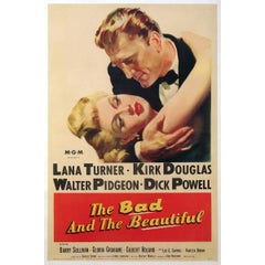 """""""The Bad And The Beautiful"""" Film Poster, 1952"""