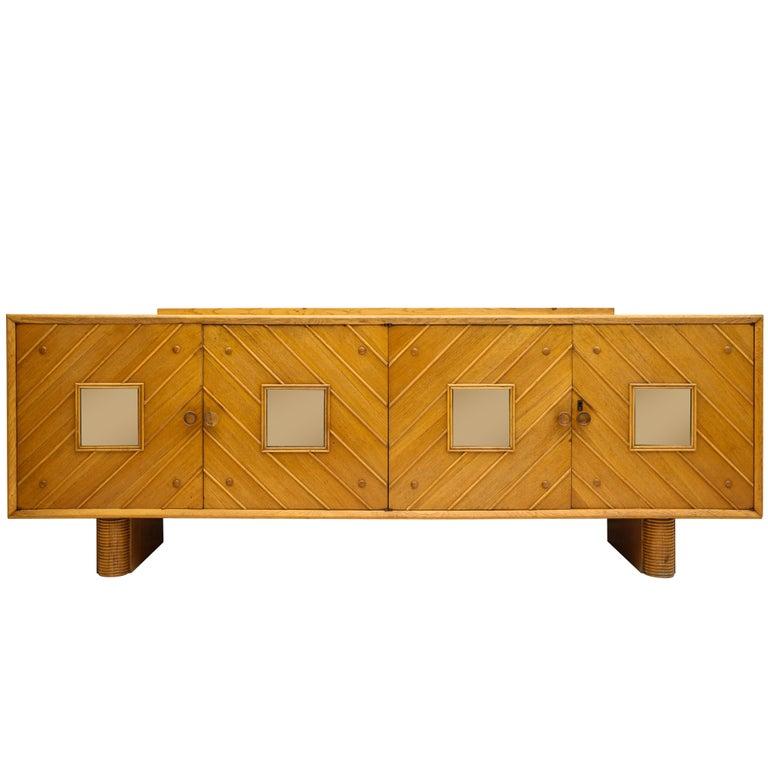 Pier Luigi Colli Oak Buffet Sideboard, Mid-Century Modern Italy, 1940s-1950s For Sale