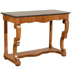 19th Century Charles X Console with Black Marble Top, circa 1825