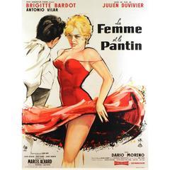 """""""La Femme Et Le Pantin"""" Film Poster, 1959"""