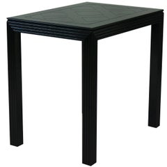 Black Lacquered Side Table