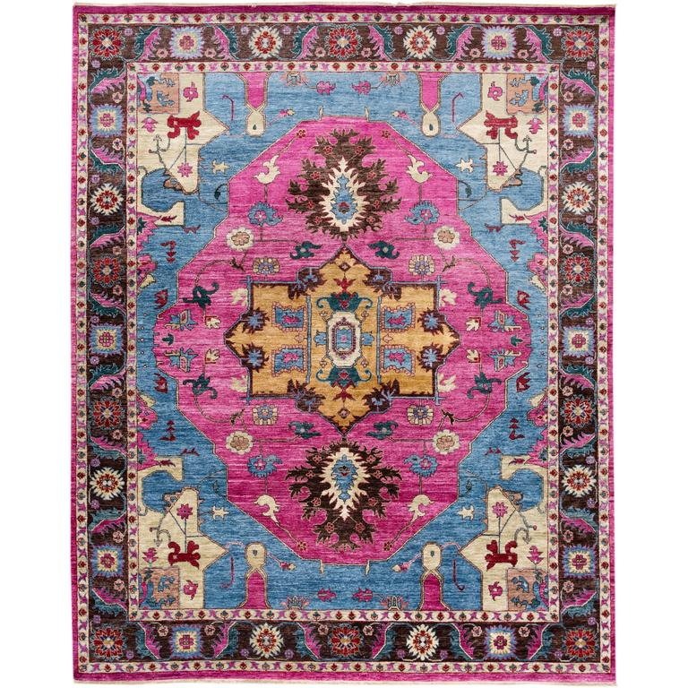 Very Y Modern Indian Rug For