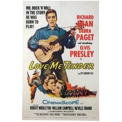 """Love Me Tender"" Film Poster, 1956"
