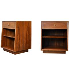 Pair of Kipp Stewart and Stewart MacDougall for Drexel Walnut Nightstands