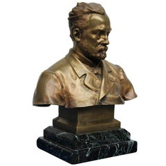 Louis Pasteur Bronze By H. Daillion