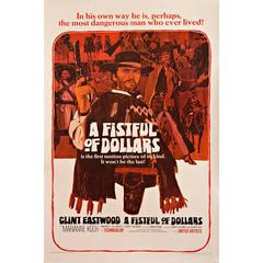 """""""A Fistful Of Dollars"""" Film Poster, 1964"""