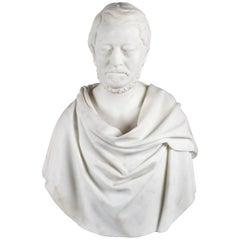 Antique Carrara Marble Bust