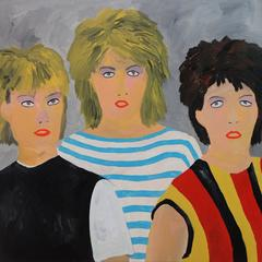 'Bananarama' 1980s Portrait Painting by Alan Fears Pop Music