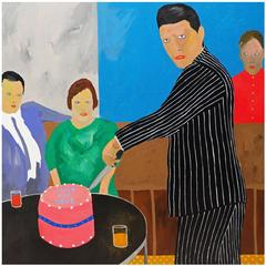'The Leaving Party' Portrait Painting by Alan Fears