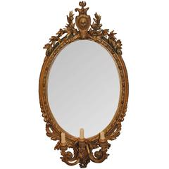 Antique 19th Century Giltwood Girandole Mirror