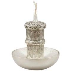 Antique Victorian Sterling Silver 'Mushroom' Table Lighter
