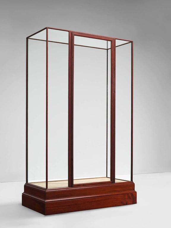 Simplistic vitrine in glass and wood for sale at 1stdibs - Vitrine modern ...
