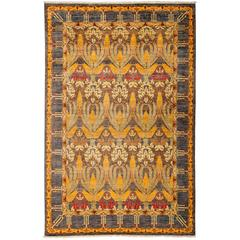 Yellow Arts & Crafts Area Rug