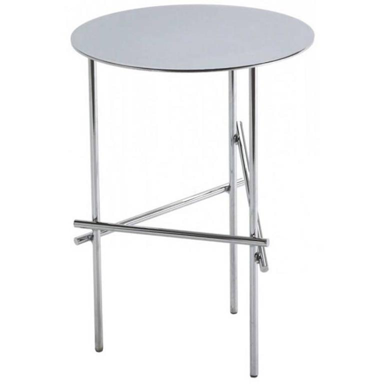 Shanghai Tip Side Coffee Table in Chrome or Powder Coat Colored Finish
