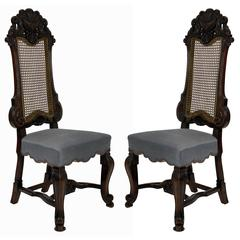Pair of Fine George Trollope & Sons Hall Chairs