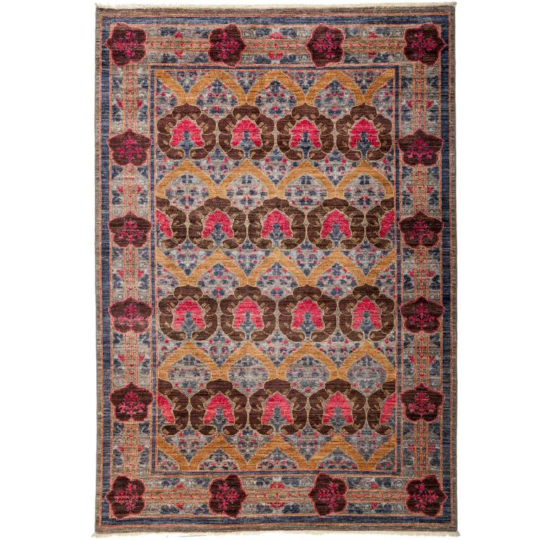 Purple arts and crafts area rug for sale at 1stdibs for Arts and crafts for sale
