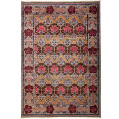 Purple Arts and Crafts Area Rug