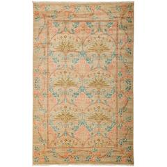 Beige Arts and Crafts Area Rug