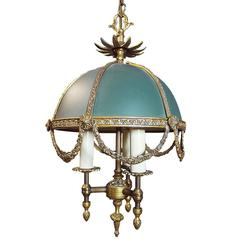 Wonderful French Louis XV Style Bouillotte Chandelier