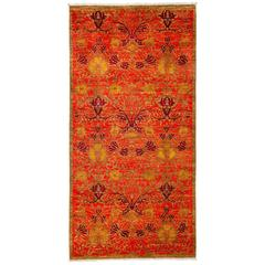Orange Arts and Crafts Area Rug