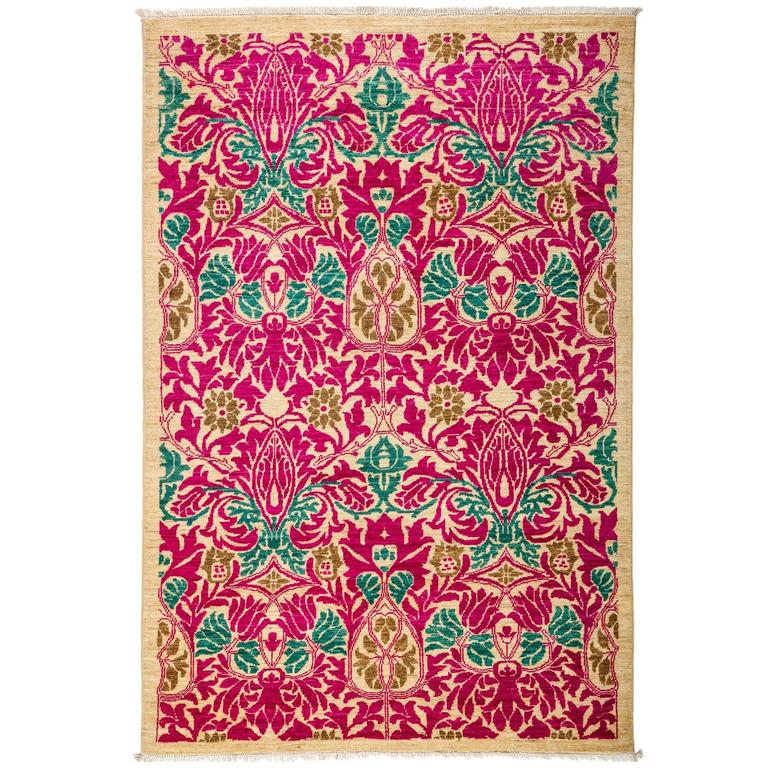pink arts and crafts area rug solo rugs for sale at 1stdibs. Black Bedroom Furniture Sets. Home Design Ideas