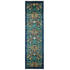 Blue Arts and Crafts Runner