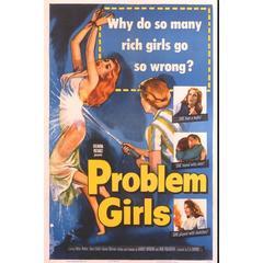 """Problem Girls"" Film Poster, 1953"