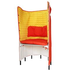 Contemporary Armchair by Gaetano Pesce in Orange Yellow Canvas 21th Century