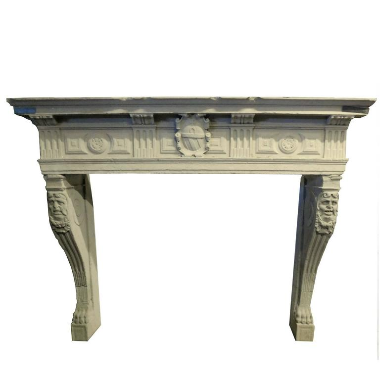 antique fireplace mantel for sale at 1stdibs Ceramic Fireplace Insert Wood Fireplace