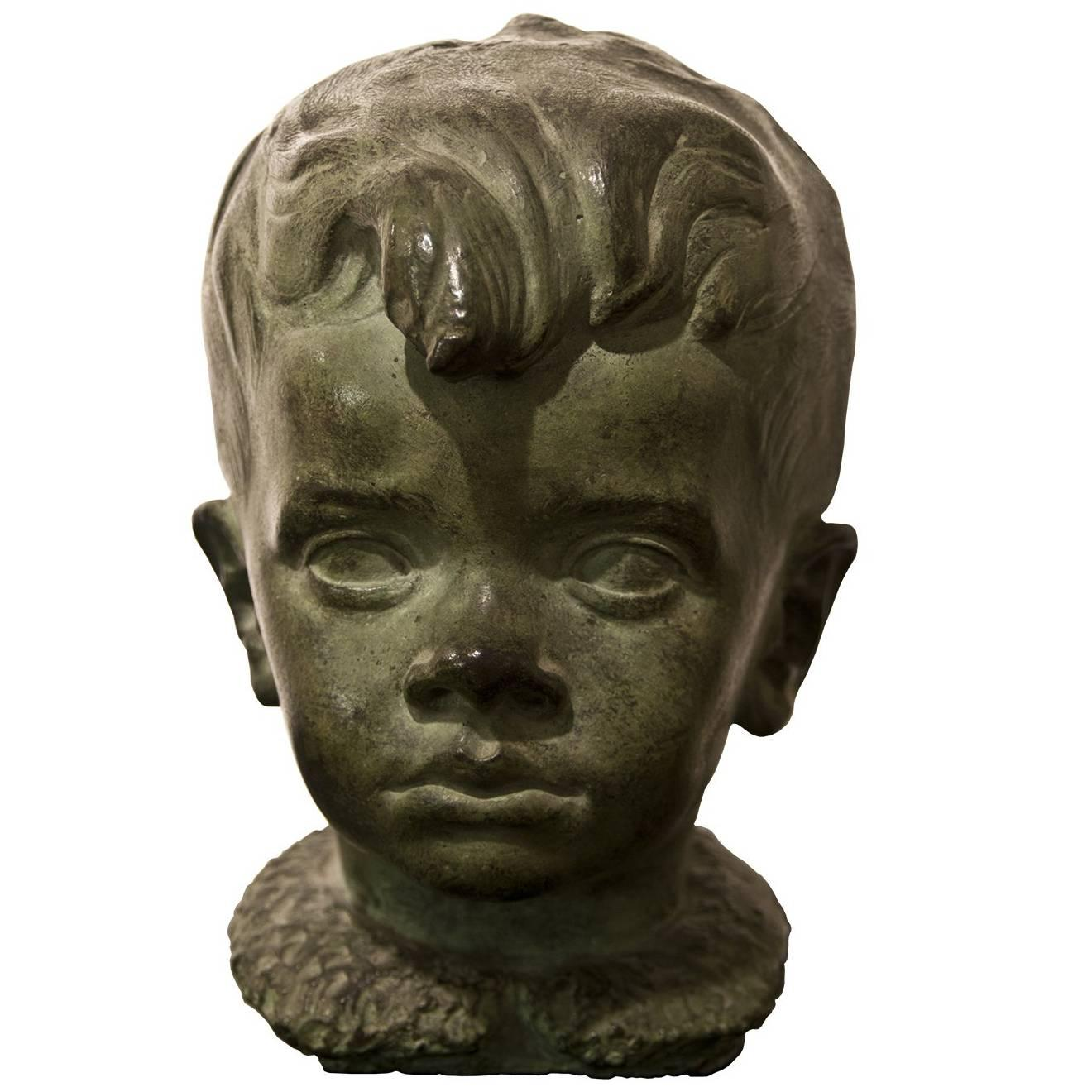 Child Bust by Carlo Pisi, Italy, 1930s