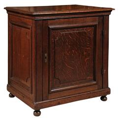 Oak Confiturier with Working Key and Lock, French, circa 1900