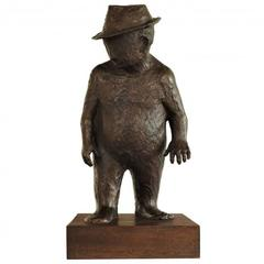 Syd Ginsberg Sculpture of a Man with Hat