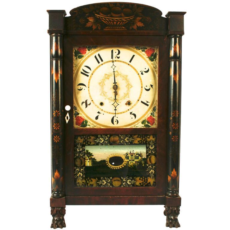 Seth Thomas Mahogany Shelf Clock, circa 1835