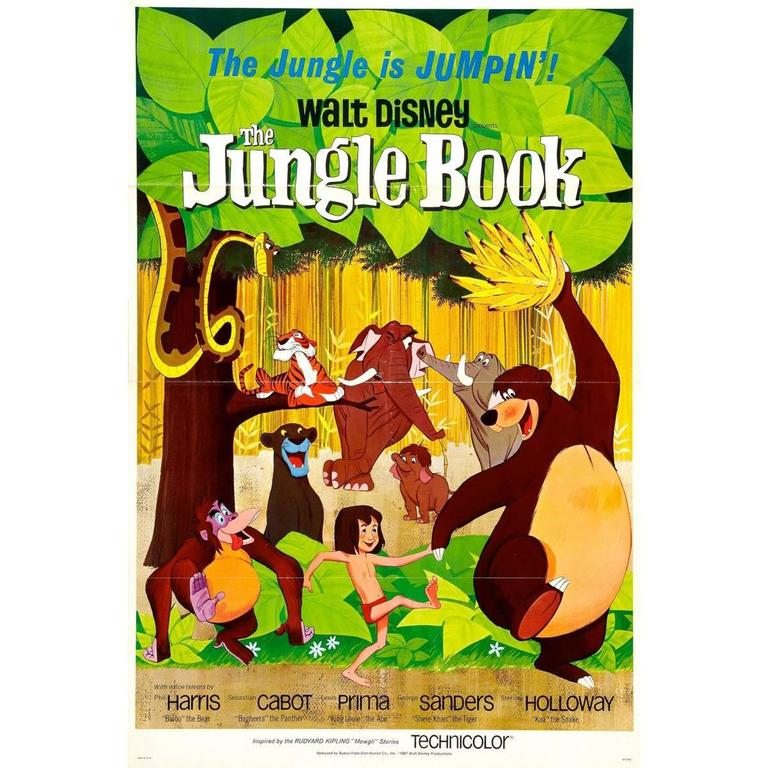 """The Jungle Book"", Film Poster, 1967 For Sale"