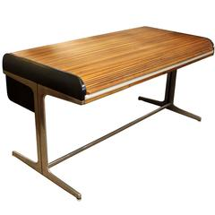 Mid-Century Modern Rare Large George Nelson Roll Top Tambour Action Desk