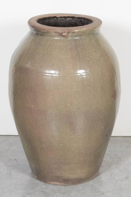 Tall Vintage Chinese Ceramic Wine Jar At 1stdibs