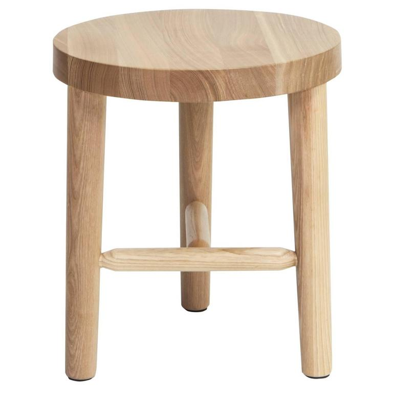 Solid White Ash Milking Stool Laxseries By Mashstudios For