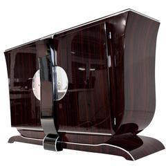 Small Macassar Art Deco Sideboard