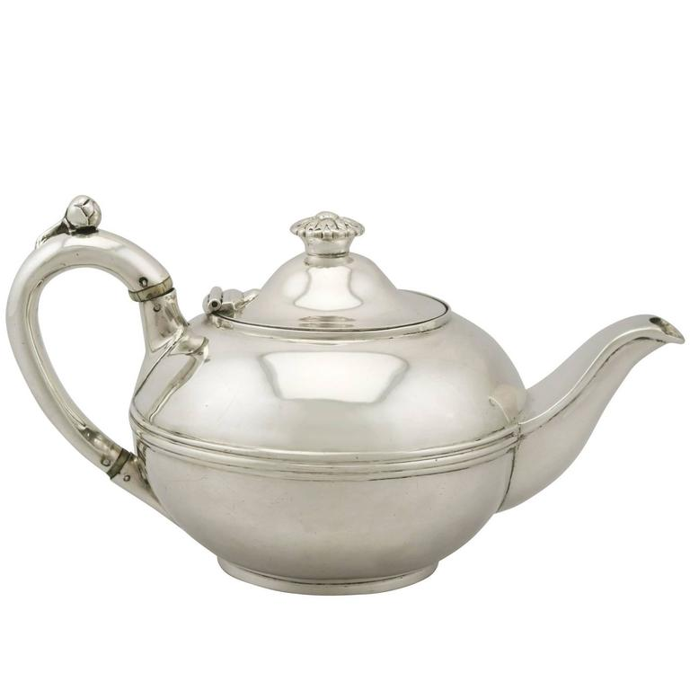 Antique George IV Sterling Silver Teapot by Paul Storr
